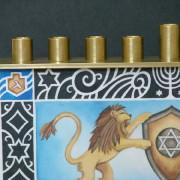 Lions of Judah Chanukah Menorah detail copy