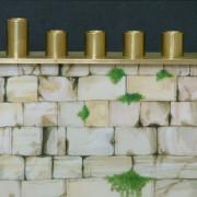 Kotel Chanukah Menorah detail copy