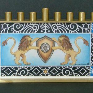 Lions of Judah Chanukah Menorah
