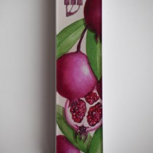 Pomegranates Mezuzah Case